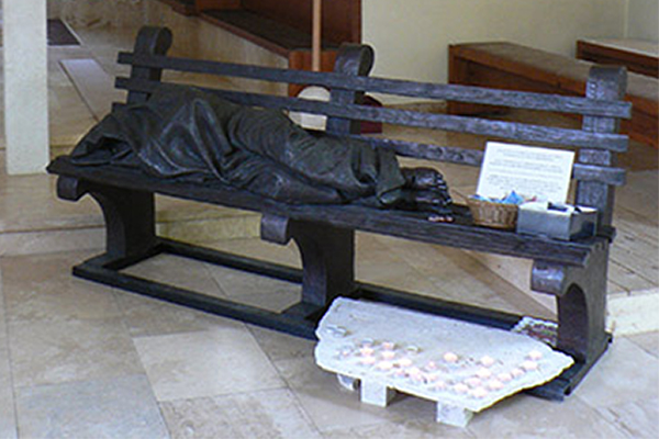 Hajléktalan Jézus budakalász