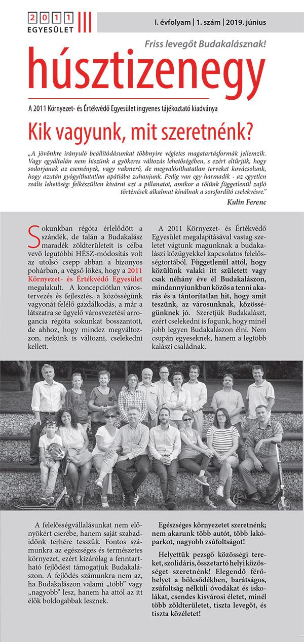 2011 újság I. évfolyam 1. szám