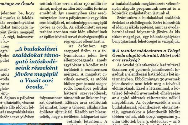 Vasútsori óvoda - Hírmondó